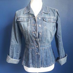 DKNY Jeans Denim Peplum Jacket